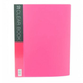 CBE Merry Colour Clear Book VK10 A4 PINK ( ITEM NO : B10 53 P )