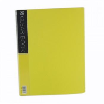 CBE Merry Colour Clear Book VK20 A4 YELLOW ( ITEM NO : B10 54 Y )