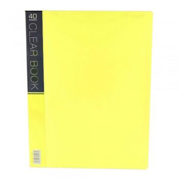 CBE Merry Colour Clear Book VK40 A4 - Yellow (Item No: B10-56 Y) A1R5B27