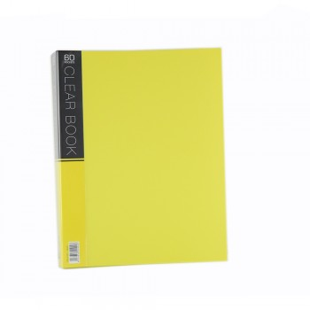 CBE Merry Colour Clear Book VK60 A4 YELLOW ( ITEM NO : B10 57 Y )