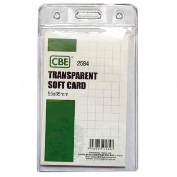 CBE 2584 Transparent Soft Card - 55 x 85mm