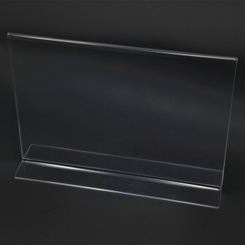 Acrylic Landscape A4 T-Shape Display Stand - 297mm (W) x 210mm (H)