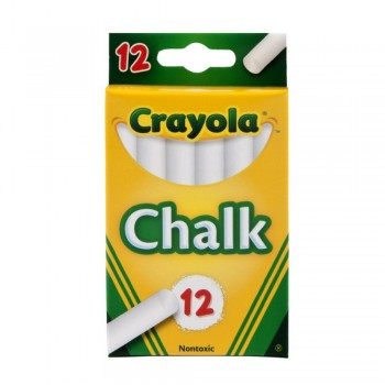 Crayola 12ct White Chalk - 510320