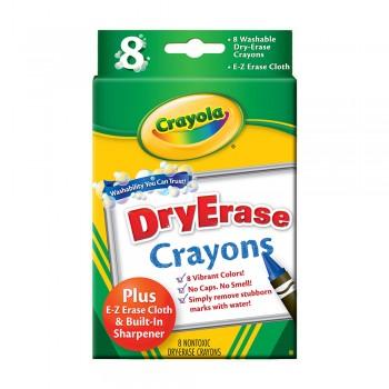 Crayola 8ct Washable Dry Erase Crayons - 985200