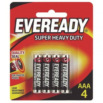 EVEREADY Super Heavy Duty AAA Carbon Zinc Batteries - AAA Size - 4pcs (Item No: B06-19) A1R2B232