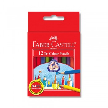 Faber Castell Tri-Grip 12 Short Color Pencil (115832)