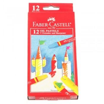 Faber Castell Oil Pastel Box 121223 - 12 Colour (Item No: B05-07) A1R2B193