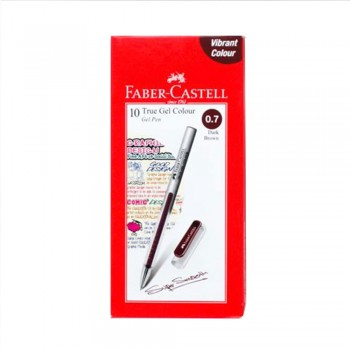 Faber Castell True Gel Pen 0.7mm Dark Brown (242675)