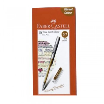 Faber Castell True Gel Pen 0.7mm Soft Brown (242676)