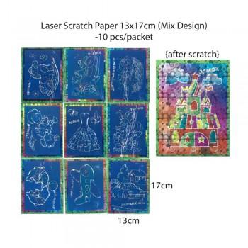 Laser Scratch Paper 13cm x 17cm - 10pcs/packet