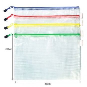 Soft Mesh Zipper Bag B5
