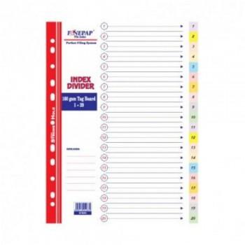 Finepap Index Divider 1-20 (S1620)