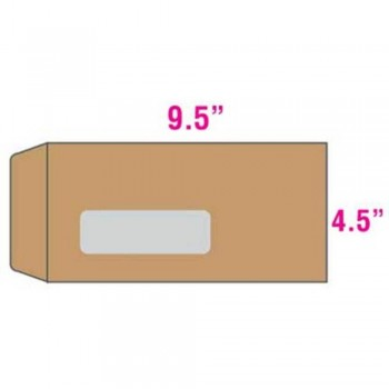 Brown Envelope Window - Manila - 9.5-inch x 4.5-inch