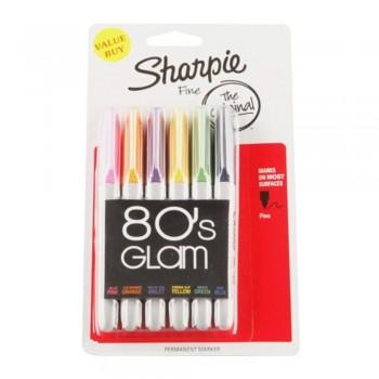 Sharpie 80'S Glam Asst 12X6'S (AP014656) (Item No: A12-24 SH80S) A1R3B47