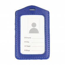 Leather Name Tag Potrait Blue (54x85mm)