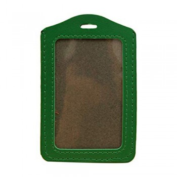 Leather Name Tag Potrait Green (54x85mm)