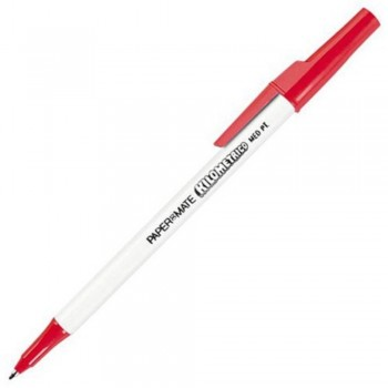 Papermate Kilometrico Ball Point Pen - 1.0mm RED (Item No: A04-02 KLMRD) A1R1B39