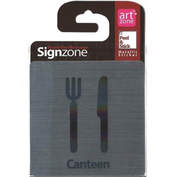 Signzone Peel & Stick Metallic Sticker - Canteen (Item No: R01-01CANTEEN)