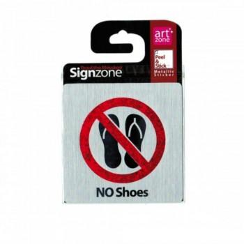 Signzone Peel & Stick Metallic Sticker - NO Shoes (Item No: R01-23)