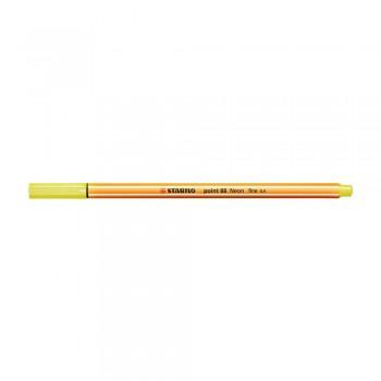 Stabilo Point (88/024) 0.4mm Neon Yellow Fineliner Marker Pen