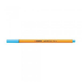Stabilo Point (88/031) 0.4mm Neon Blue Fineliner Marker Pen