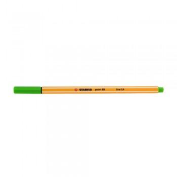 Stabilo Point (88/033) 0.4mm Neon Green Fineliner Marker Pen