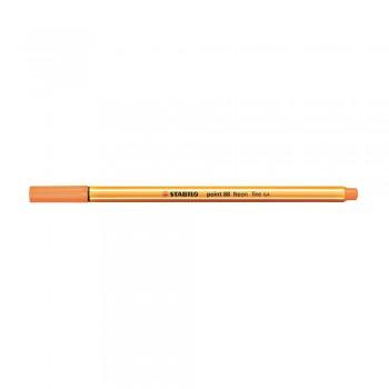Stabilo Point (88/054) 0.4mm Neon Orange Fineliner Marker Pen