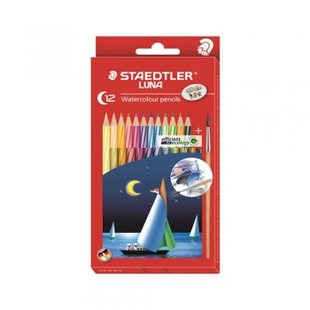 Staedtler Luna Watercolour Pencil-12 Colours - Full Length