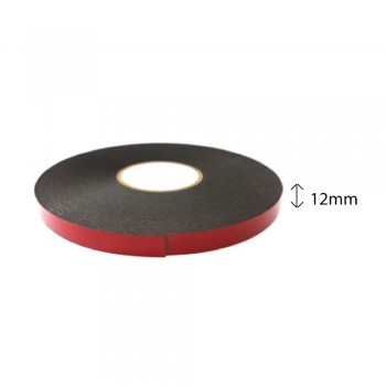Double Sided PE Foam Tape (Black) - 12mm X 8m