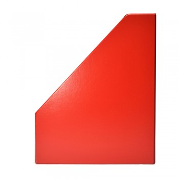 "4"" PVC Magazine Box File - Red"