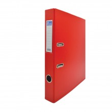 EMI PVC 50mm Lever Arch File F4 - Red