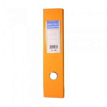 EMI PVC 75mm Lever Arch File F4 - Fancy Orange