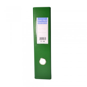 EMI PVC 75mm Lever Arch File F4 - Green
