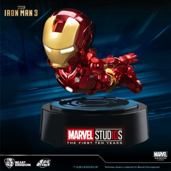 [SPECIAL EDITION] Beast Kingdom EA-040SP Marvel Studios: The First Ten Years Edition Iron Man MK3 Egg Attack Magnetic Floating Figure EA-040 (Chrome Version)