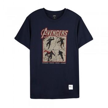 Avengers: Endgame Series Avengers Team Tee (Navy Blue, Size XL)