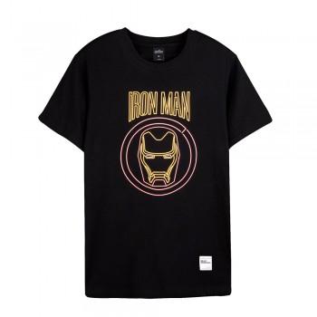 Avengers Series Tee Embroidery - Iron Man 13 - Black