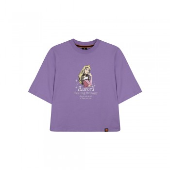 Disney Princess Series: Sleeping Beauty Women Tee (Purple, Size S)