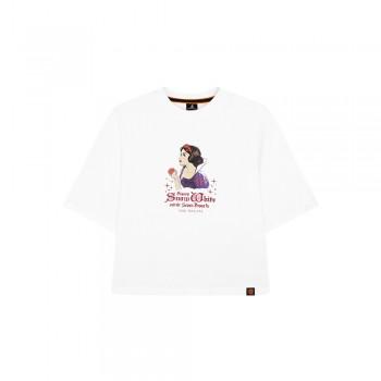 Disney Princess Series: Snow White Women Tee (White, Size L)