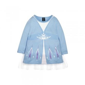 Frozen 2 Series Elsa Cloak Kids Tee - (Blue, Size 120)