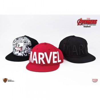 Marvel Series Marvel Logo Snapback (Red, F)