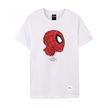Spider-Man Series Side Face Tee (White, Size S)