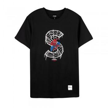 Spider-Man Series Spider-Man S Tee (Black, Size XL)