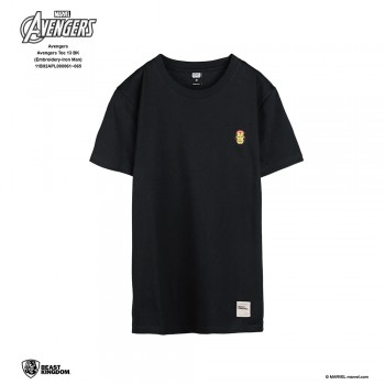 Avengers: Avengers Tee Embroidery Series Iron Man - Black, XS