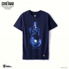 Marvel Captain America: Civil War Tee Captain America - Blue, Size XS (APL-CA3-030)