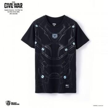 Marvel Captain America: Civil War Tee Iron Man Armor - Black, Size XL (APL-CA3-004)