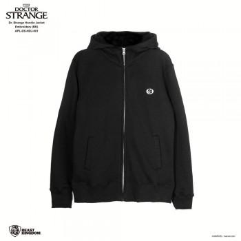 Marvel Dr. Strange: Dr. Strange Hoodie Jacket Embroidery - Black, Size L (APL-DS-HDJ-001)