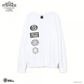 Marvel Dr. Strange: Dr. Strange Sweatshirt Icon - White, Size S (APL-DS-SS-001)