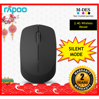 RAPOO M100 SILENT 2.4G Wireless Mouse (Black)