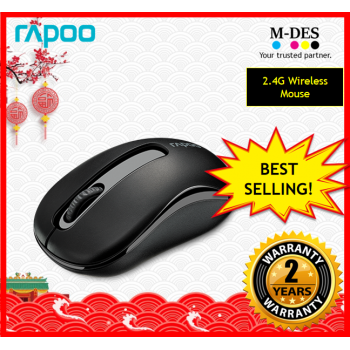 RAPOO M10+ M10plus 2.4G Wireless Mouse (Black)
