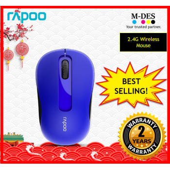 RAPOO M10+ M10plus 2.4G Wireless Mouse (Blue)